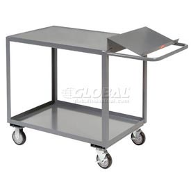 Jamco 2 Shelf Order Picking Cart SO248 48x24 Flush Top Shelf