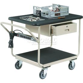 "Deluxe Instrument Cart 48 x 24 With 5"" Casters"