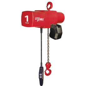 Coffing Little Mule Electric Chain Hoist with Chain Container 2000 lb. Capacity