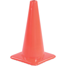 "18"" Traffic Cone, Non-Reflective, Orange,  3 lbs, 1850"