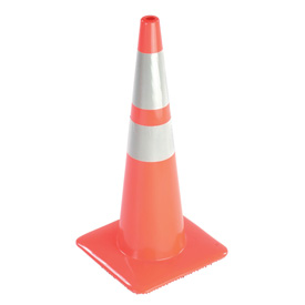 "28"" Traffic Cone W/ Custom Imprinting, Reflective, Orange, 10 lbs, 2825-10-MM-L - Pkg Qty 50"
