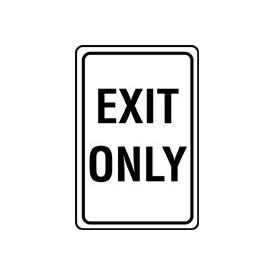 Aluminum Sign - Exit Only - .080 mm Thick