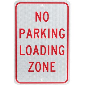 Aluminum Sign - No Parking Loading Zone - .080mm Thick