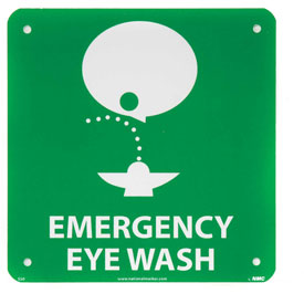 Graphic Facility Signs - Emergency Eye Wash - Plastic 7x7