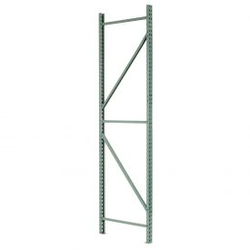"Interlake Mecalux Pallet Rack Tear Drop Upright Frame 42""D x 120""H"