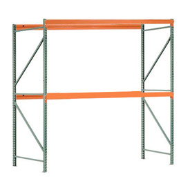 "Interlake Mecalux Pallet Rack Tear Drop Starter 96""W x 36""D x 96""H"