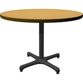 "36"" Round Café - Lunchroom - Restaurant Table - Oak"