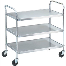 "Vollrath 97106 - Stainless Steel Shelf Cart, KD, 500 Lbs. Capacity, 40-1/2""D x 21""W x 36-1/2""H"