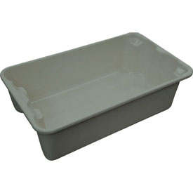 "Molded Fiberglass Toteline Nest and Stack Tote 780208 - 17-7/8"" x10""-5/8"" x 5"" Gray - Pkg Qty 10"
