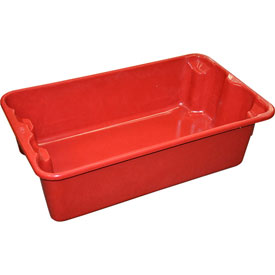 "Molded Fiberglass Nest and Stack Tote 780208 - 17-7/8"" x10""-5/8"" x 5"" Red"