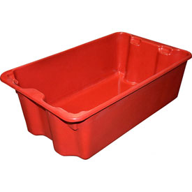 """Molded Fiberglass Nest and Stack Tote 780508 - 24-1/4"""" x 14-3/4"""" x 8"""", Pkg Qty 10, Red - Pkg Qty 10"""