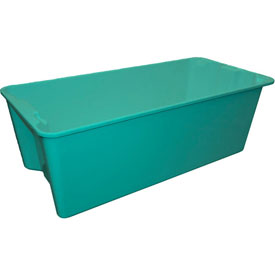 """Molded Fiberglass Nest and Stack Tote 780008 with Wire - 42-1/2"""" x 20"""" x 14-1/4"""", Green"""