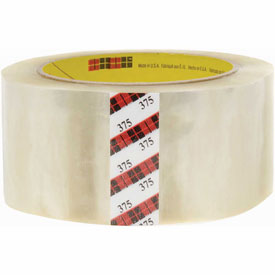 "3M Carton Sealing Tape 375 2"" x 55 Yds 3.1 Mil Clear - Pkg Qty 36"