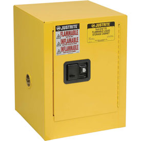 Justrite Flammable 4 Gallon Liquid Cabinet Manual Single Door Vertical Storage