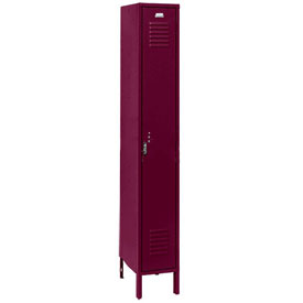 Penco 6161V-1-736KD Vanguard Locker Pull Latch Single Tier 12x12x72 1 Door Unassembled Burgundy