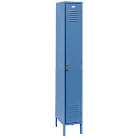 Penco 6161V-1-806KD Vanguard Locker Pull Latch Single Tier 12x12x72 1 Door Unassembled Marine Blue