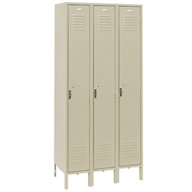 Penco 6161V-3-073KD Vanguard Locker Pull Latch Single Tier 12x12x72 3 Doors Unassembled Champagne