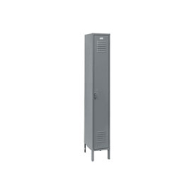 Penco 6181V-1-028KD Vanguard Locker Pull Latch Single Tier 18x18x72 1 Door Unassembled Gray