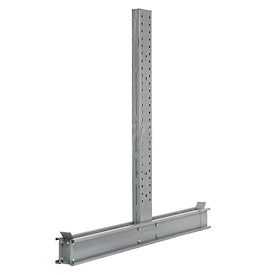 "Cantilever Rack Double Sided Upright, 65"" D x 12' H, 41800 Lbs Capacity"