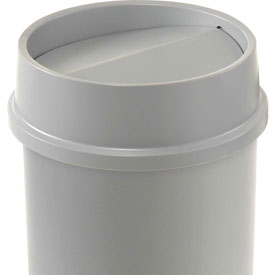 Lid For 11 & 22 Gallon Round Rubbermaid Waste Receptacles - Gray