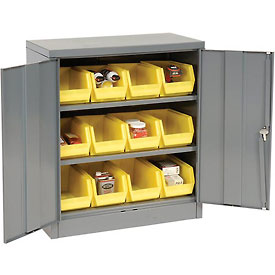 "Locking Storage Cabinet 36""W X 18""D X 42""H With Removable Bins"