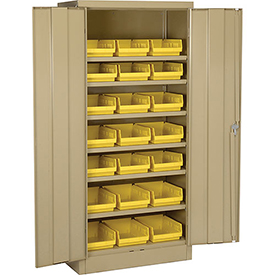 "Locking Storage Cabinet 30""W X 15""D X 66""H With Removable Bins"
