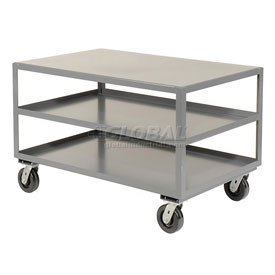Jamco All Welded Portable Steel Table LD236 3 Shelves 36x24 3000 Lb. Capacity