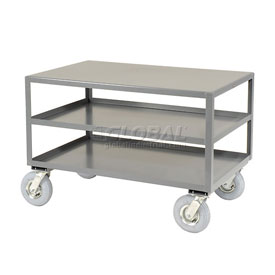 Jamco All Welded Portable Steel Table LC348 3 Shelves 48x30 1200 Lb. Capacity