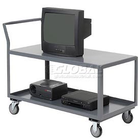 Jamco Two Shelf All-Welded Heavy Duty Service Cart SL236 36x24 1200 Lb. Capacity