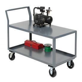 Jamco 2 Shelf All-Welded Heavy Duty Service Cart SL360 60 x 30 2400 Lb. Capacity