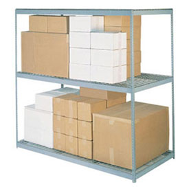 """Wide Span Rack 72""""W x 36""""D x 60""""H With 3 Shelves Wire Deck 900 Lb Capacity Per Level"""