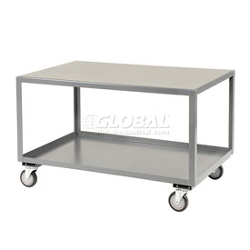 Jamco All Welded Portable Steel Table LB236 2 Shelves 36x24 1200 Lb. Capacity