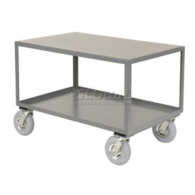 Jamco All Welded Portable Steel Table LB248 2 Shelves 48x24 1200 Lb. Capacity
