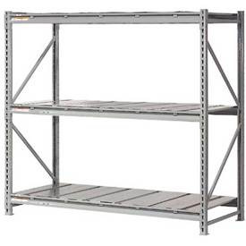 "Extra High Capacity Bulk Rack With Steel Decking 72""W x 24""D x 120""H Starter"