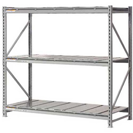"Extra High Capacity Bulk Rack With Steel Decking 96""W x 24""D x 120""H Starter"