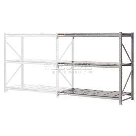 "Extra High Capacity Bulk Rack With Steel Decking 60""W x 24""D x 120""H Add-On"