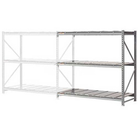 "Extra High Capacity Bulk Rack With Steel Decking 72""W x 24""D x 120""H Add-On"