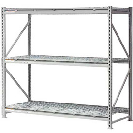 "Extra High Capacity Bulk Rack With Wire Decking 60""W x 24""D x 96""H Starter"