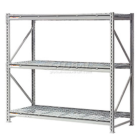 "Extra High Capacity Bulk Rack With Wire Decking 72""W x 24""D x 120""H Starter"