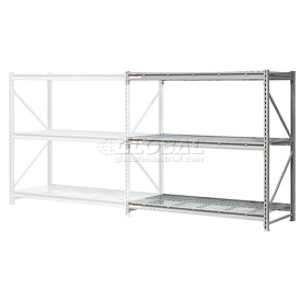 """Extra High Capacity Bulk Rack With Wire Decking 60""""W x 48""""D x 96""""H Add-On"""