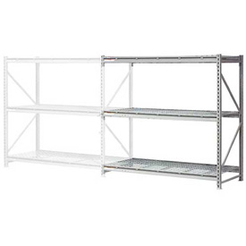 "Extra High Capacity Bulk Rack With Wire Decking 72""W x 24""D x 120""H Add-On"