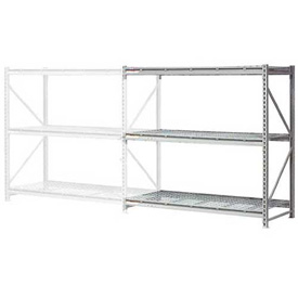 "Extra High Capacity Bulk Rack With Wire Decking 72""W x 48""D x 120""H Add-On"