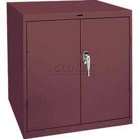 Sandusky Elite Series Desk Height Storage Cabinet EA11361830 - 36x18x30, Burgundy
