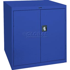 Sandusky Elite Series Counter Height Storage Cabinet EA2R361842 - 36x18x42, Blue