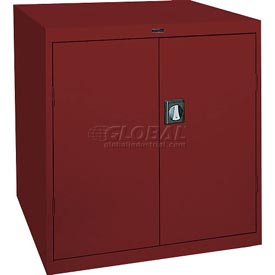 Sandusky Elite Series Counter Height Storage Cabinet EA2R361842 - 36x18x42, Red