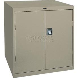 Sandusky Elite Series Counter Height Storage Cabinet EA2R361842 - 36x18x42, Sand
