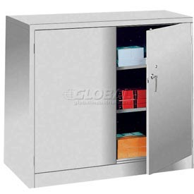 Lyon Storage Cabinet DD1043 Counter Height 36x18x42 - Gray