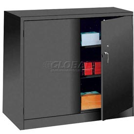 Lyon Storage Cabinet KK1042 Counter Height 36x18x42 - Black