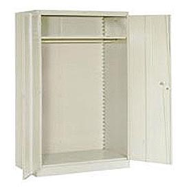 Lyon Wardrobe Storage Cabinet PP1032  - 48x24x78 - Putty