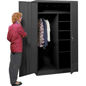 Lyon Combination Storage Cabinet KK1033  - 48x24x78 - Black